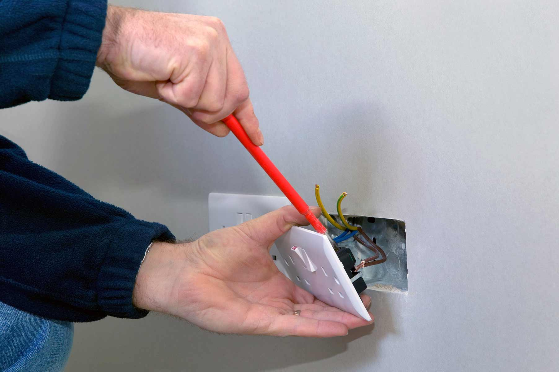 Our electricians can install plug sockets for domestic and commercial proeprties in Grove Park and the local area.